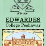 Edwardes College Peshawar Logo with Postal Ticket issued by Pakistan Post