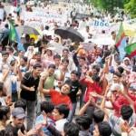 Lahore - Students Protest against BOG under PPLA