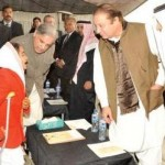 Danish School Rahim Yar Khan - Nawaz Sharif Shahbaz Sharif and Saudi ambassador talking to handicap girl