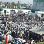 KESC Karachi Sacked Workers Protest in front of Defence Office