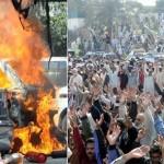 Karachi - KESC Workers protest on Thursday January 20 2011