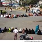 Lady Health Workers Dharna at Fowara Chowk Governor House Karachi