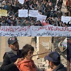 Lahore: University of Education Students Protest Against Teachers Removal