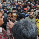 Pakistan Post Employees protest in Lahore addressed by Muhammad Aslam Chitta against privatization - Express 11-1-2011