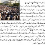 Protest and Sitin in front of KESC Head Office continue at night - Jang Breaking News 21-01-2011