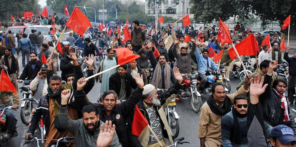 Railway Workers MotorCycle Rally from Mughalpura to Punjab Assembly pic