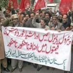 Lahore: WAPDA Hydro Electric Central labour Union in Protest Against Privatization