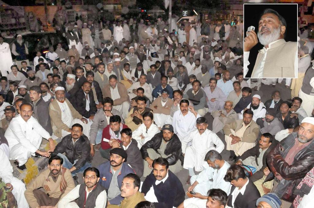 KESC labour Union CBA Chairman addressing in front of Press Club Karachi  (File Photo)