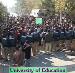 Breaking News: Police baton charge students of University of Education Lahore protesting today (January 19, 2011)