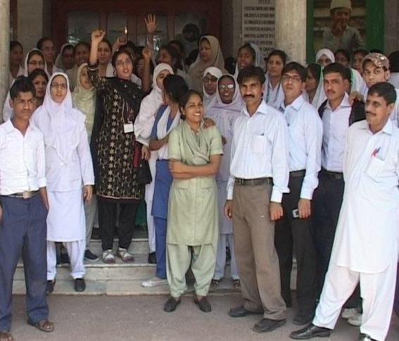 NICH Karachi Employees Protest (pic)