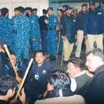 PIA Employees Dharna (Sitin) at Lahore Airport