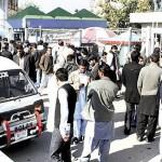 PIA Strike - Passengers rush at Islamabad Airport
