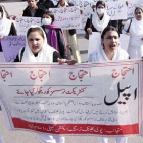 Poly Clinic Hospital Islamabad Nurses Protest
