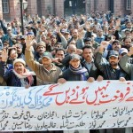 Postal Employees Protesting in GPO Lahore against Privatization (pic)