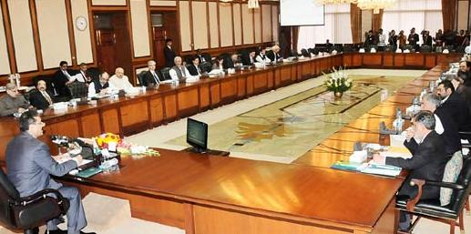 Prime Minister Presiding over Meeting of CCI in Islamabad