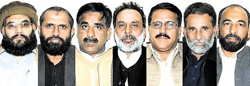 Punjab Teachers Union Office Bearers in Rawalpindi Express Forum (pic)