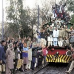 Rail Mazdoor Ittehad Shed Staff protest in Lahore (pic)
