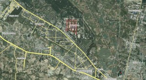 Satellite map Wah Cantt and Taxila (POF & HMC)