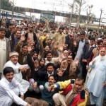 Train Halt - Railways employees protest against salaries non-payment