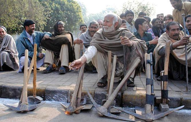 Workers in Wait at Shadbagh Lahore