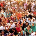 Dharna of Lady Health Workers at Press Club Lahore