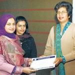Federal Urdu University Teacher Training certificate distribution by Noor Aamna