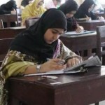 Girl in Entry Test Layari Medical College
