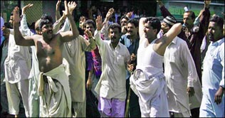 Lower Staff of Sindh Education Protest in Karachi