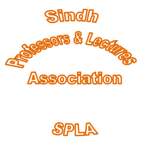 Sindh Professors and Lecturers Association (SPLA) rally in Larkana
