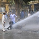 SPLA Teachers Rally under Shelling in Karachi (pic)
