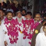Ch Muhammad Khalid, Saleem Gillani, Shaikh Imran & Ch Muhammad Younis after victory