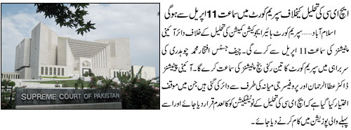 Supreme Court will proceeds HEC Case on April 11, 2011