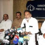 LESC Labour Union CBA Chairman Ikhlaq Ahmad in Press Conference at Karachi