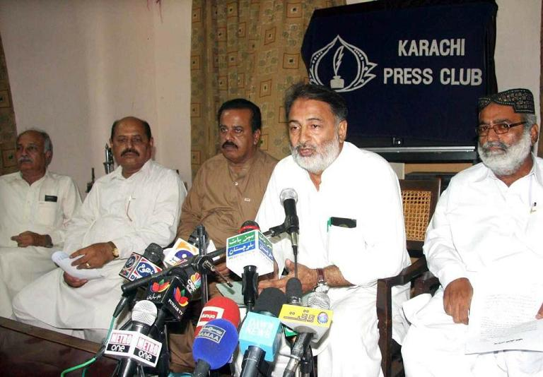 KESC Labour Union CBA Chairman Ikhlaq Ahmad in Press Conference at Karachi