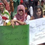 Pakistan Pharmacist Association Protest at Mall Road Lahore for Pay Raise