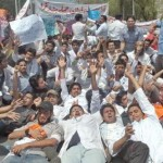Pakistan Pharmacist Association Protest at Mall Road Lahore for Pay Raise 2