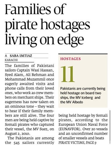 Azadi Mission of 4 Pakistani from Somali Pirates : Ransom Demand of $2 Million