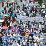 Pharmacist Association Protest Rally in Lahore - Azadi swat 26-4-2011 (pic)
