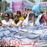 Pharmacist Association Protest Rally on Faisal Chowk Mall Raod Lahore (pic)