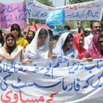 Pharmacist Protest for Pay Raise & Service Structure in Lahore (pic)