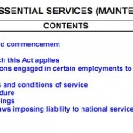 Punjab Essential Services Act 1958 (Page1)