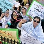 Punjab Lady Teachers protest in favor of their demands in Lahore