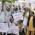 Punjab Teachers Union Protest Demonstration at Press Club Lahore