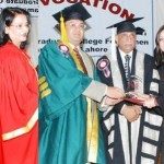 Women College Samanabad Lahore 18th Convocation - Minister giving awards