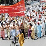 APCA Clerks Rally on Mall Road Lahore for Pay Raise (17-5-2011) pic
