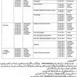 Date Sheet inter annual 2011 Gujranwala Board (Practicals)