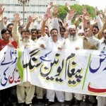WAPDA LESCO Employees Pegham Union Protest on Mall Road Lahore agianst withdrawl of free electricity units