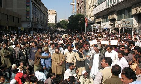 KESC Labour Union CBA Rally in Karachi