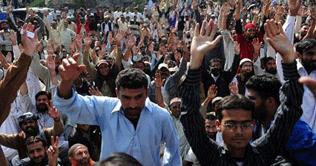 KESC employees sitin (Dharna) continues in Karachi against VSS