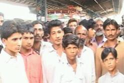 Sukkur railway Loco shed colony employees protest